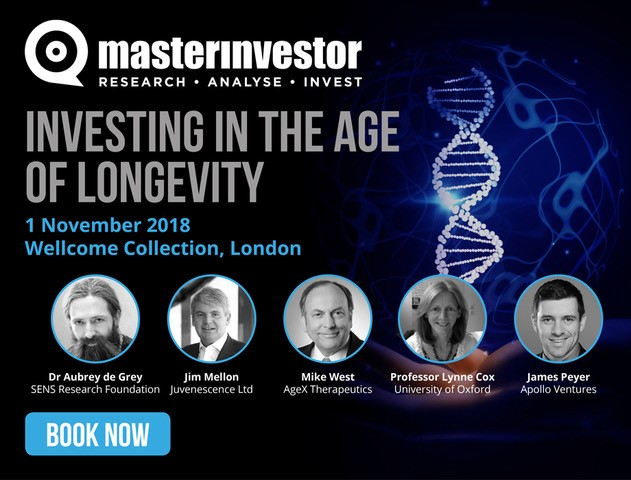 Master Investor 'Investing in the Age of Longevity' takes place on 1 November